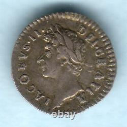 Grande-bretagne. 1686 James 11 Penny D'argent. Gvf Trace Lustre