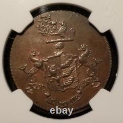 Grande-bretagne 1790 1/2 Penny D & H-34 Suffolk-ipswich Robert Mann Ngc Ms 62 Bn