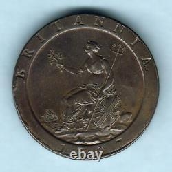 Grande-bretagne. 1797 George 111 Cartwheel Penny. Trace Lustre Aunc