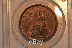 Grande-bretagne 1806 Penny- Pcgs Ms-63rb. Pièce Magnifique