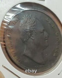 Grande-bretagne 1831 Un Penny William IV Ex Haute Qualité Rare Wow