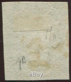 Grande-bretagne 1840 1d Penny Black'fc ' 4 Bonnes Marges Rouge Maltaise Croix