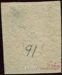 Grande-bretagne 1840 1d Penny Black'ge ' 4 Bonnes Marges. Plaque 1b. Rouge Maltaise X