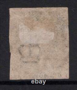 Grande-bretagne 1840 Qv Penny Black Avec 4 Margins Sg2 (avec Des Défauts Mineurs) Utilisé