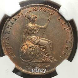 Grande-bretagne 1854 Half Penny, Young Head Queen Victoria, Mbac Ms-62