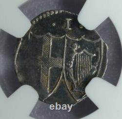 Grande-bretagne 1d Penny (1649-1660)nd Au55 Ngc Argent Km#387 Commonwealth