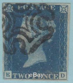 Grande-bretagne 2 Blue Penny 4 Marges 1840 No Fault Extra Fine