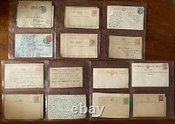 Grande-bretagne & Commonwealth Cover Collection Penny Red & Articles Rares Inclus
