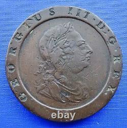 Grande-bretagne Deux Penny Cartwheel Coin1797 George Iiikm#619copper 56.7gvfineb/144
