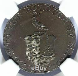 Grande-bretagne Essex 1790s Maldon Half Penny Conder Token D & H-35 Ms Ngc 61 Bn