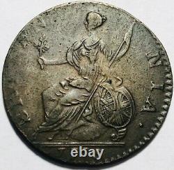Grande-bretagne George III (1/2) Demi-penny 1775 Km-601 Amende Supplémentaire
