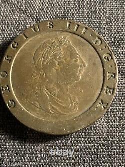 Grande-bretagne George III 1797 2 Pence Cartwheel, F- Vf