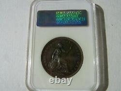 Grande-bretagne George IV 1826 1 Penny Coin, Non Circulé, Certifié Ngc Ms65-bn