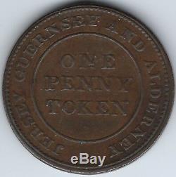 Grande-bretagne Jersey Guernesey Et Alderney 1813 Penny Token Withers 2044a Inv 3857
