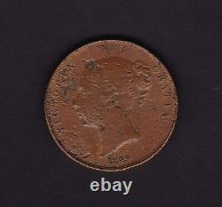 Grande-bretagne Royaume-uni Penny Victoria Coin 1849 Avec Erreur Peeling Lamination