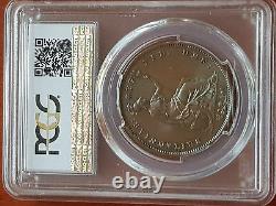 Grande-bretagne Victoria 1855 Penny Ornemental Triedent Pcgs Ms64-bn