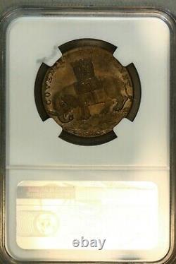 Grande-bretagne Warwickshire 1793 1/2 Penny Lady Godiva Ngc-ms65bn! Top Pop 1/0