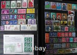 Grands Timbres Stock Book Gb, Victoriens Aux Années 1970 & Penny Black