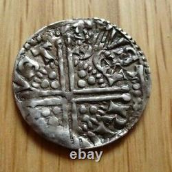 Henry III Hammered Silver Penny 1d Double Struck Averse Grande-bretagne Royaume-uni