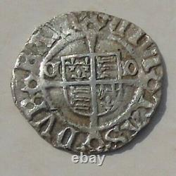 Henry VIII Souverain Penny, Évêque De Durham Tunstall Hammered Tudor Silver S2354