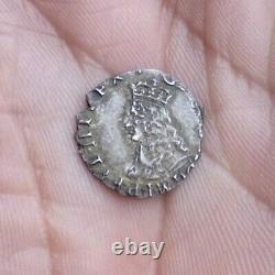 Martelé Charles II Penny D'argent