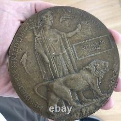 Médaille De Mort En Bronze Penny Lance Caporal Roy M. Burnie 9e Highland Infantry Wwi