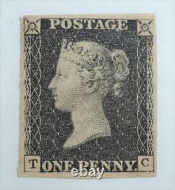 Mint 4 Marge Penny Lettres Noires Tc Super Exemple Clair Petite Couronne Wmk