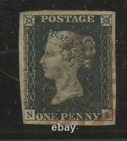 Penny Black Plate 1b Na Vfu+variety. Marges Importantes