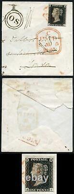 Penny Black (ai) Plate 4 Fines 4 Marges Sur La Couverture De Partie Avec Handsta Os Très Fine