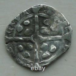 Penny D'argent Médiéval Avec Pellets, Non Identifié Peut-être Irlandais