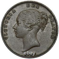 Penny Victoria British Copper Coin Nice 1844