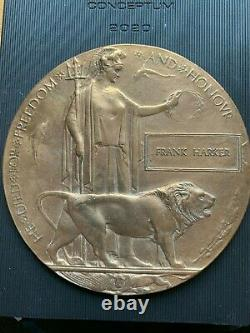 Plaque Commémorative Britannique Ww1 Death Plaque Death Penny Harker