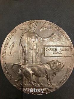 Plaque Commémorative Britannique Ww1 Plaque De Mort Penny Ca Slack