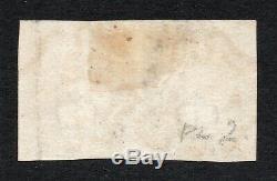 Qv Penny Noir 1840 Sg 2 1d Plaque Noire 2 Dans Une Paire (dc Dd) Super-mx Rouge
