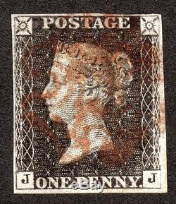 Qv Sg 1d Penny Gris Black Plate 11 (eleven) Rarissime Red MX Cat £ 40,000