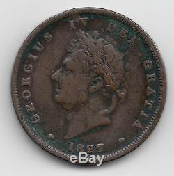 Rare Grande-bretagne George IV 1827 Penny 1d