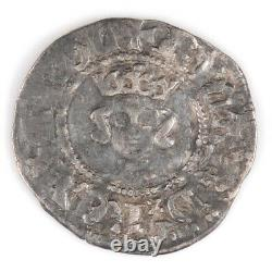 Richard Ii, Silver Half Penny, Style Intermédiaire, 1377-99