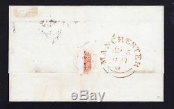 Sg3,1d Penny Black Plate Rare / Scarce Manchester Sur L'ensemble De Queue De Poisson Cat £ 4800