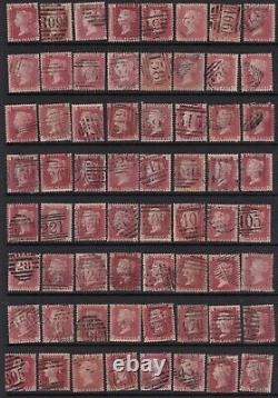 Sg43 Penny Rouge Timbres Victoriens. Plaque Full Run 71 Plaque 225