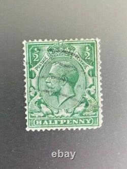 Timbre Grande-bretagne Roi George V 1/2 Demi-penny