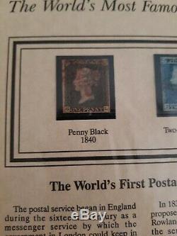 Tout D'abord Timbre-poste Penny Noir 1840 Du Monde Et Deux Blue Penny 1841