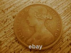 Très Rare Open 3 1863 Victoria Penny De Grande-bretagne, Seulement 7 Connus! Bp1863b