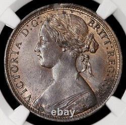 Victoria, 1837-1901. Penny, 1868. C'est Effrayant. Ngc Encapsulé