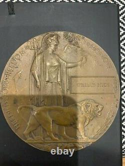Ww1 Plaque Commémorative Britannique Mort Plaque Mort Penny Hyde