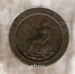 #c21. 1797 Grande-bretagne Cartwheel Two Penny Coin